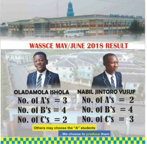 MAY/JUNE 2018 WASSCE RESULT