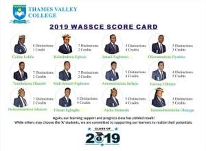 2019 WASSCE SCORE CARD